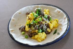 Breakfast taco unwrapped