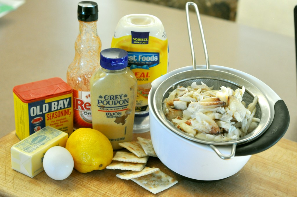 Crab cake ingredients